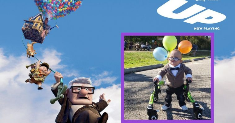 Brantley loves his Up costume, and so does everyone else!
