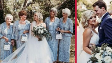 Bride Has Her Four Grandmas As Flower Girls At Her Wedding