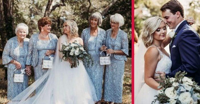 Bride Has Her Four Grandmas As Flower Girls At Her Wedding