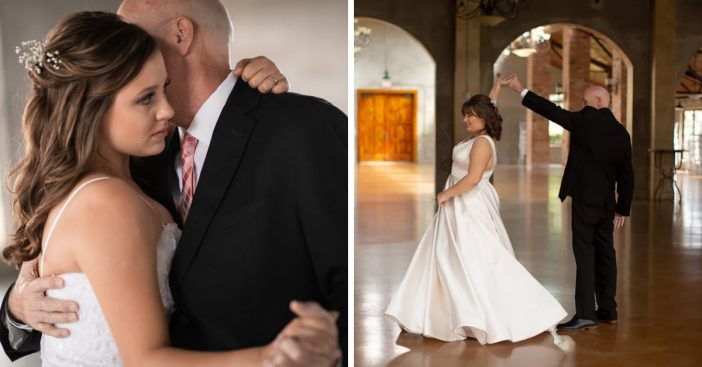 Daughters have first dance photo shoot with dying father
