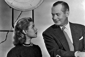 Elizabeth Montgomery and her father, Robert Montgomery
