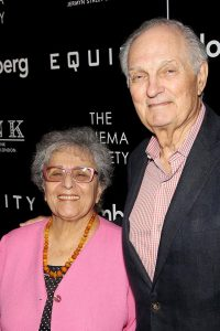 Alda is a very proud husband and father