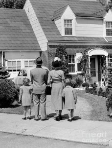 Families do what they can to be comfortable, then and now