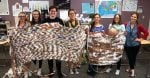 High School Students Use Old Plastic Bags To Make Sleeping Mats For The Homeless