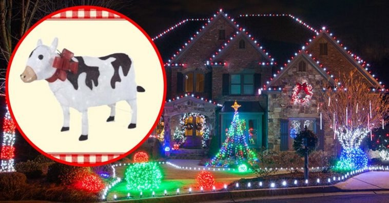 A Very Country Christmas Cast.Home Depot S Light Up Yard Cow Is A Country Dream Come True