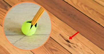 How You Can Pair A Tennis Ball With Your Broom To Make A Useful Cleaning Tool