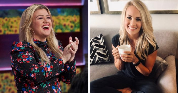Kelly Clarkson covers Carrie Underwoods song Before He Cheats on her talk show