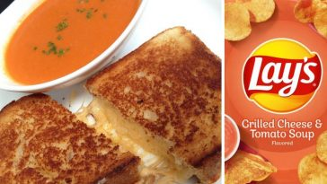 Lays is introducing Grilled Cheese and Tomato Soup chips this month