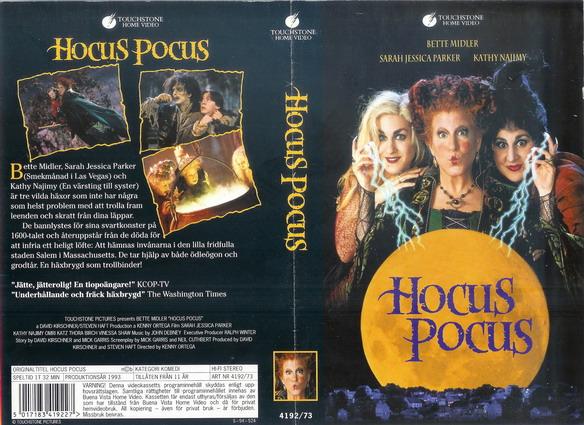 VHS cover for Disney film, 'Hocus Pocus'.