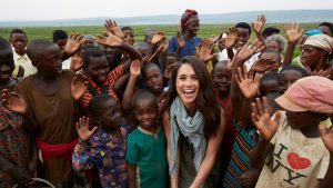 Meghan Markle at a charity event in Rwanda