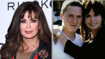 Michael Blosil and mother Marie Osmond