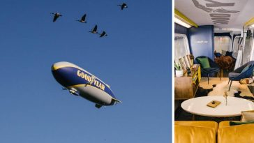 Now you can stay overnight in the Goodyear Blimp for a limited time
