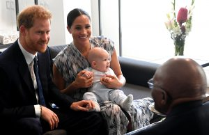 Prince Harry, Meghan Markle, Archie and Archbishop Desmond Tutu