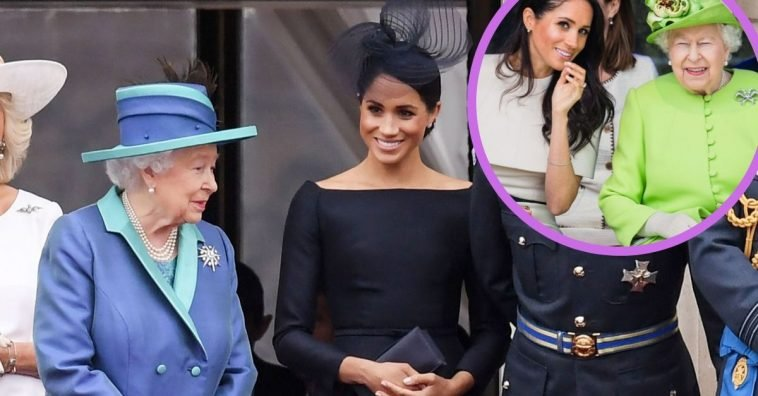 Queen Elizabeth II and Duchess Meghan