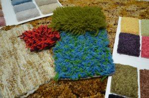 Shag carpeting samples