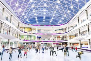 The inside of the mall features countless attractions, in addition to stores