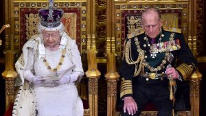 The royal couple Queen Elizabeth II and Prince Philip