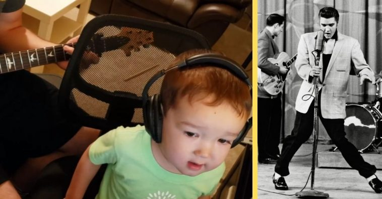 Two-year-old Daniel mastered an Elvis classic