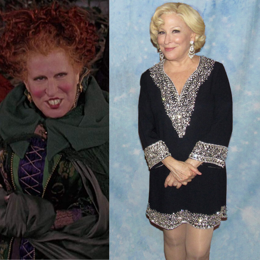 Bette Midler from the film, 'Hocus Pocus.'