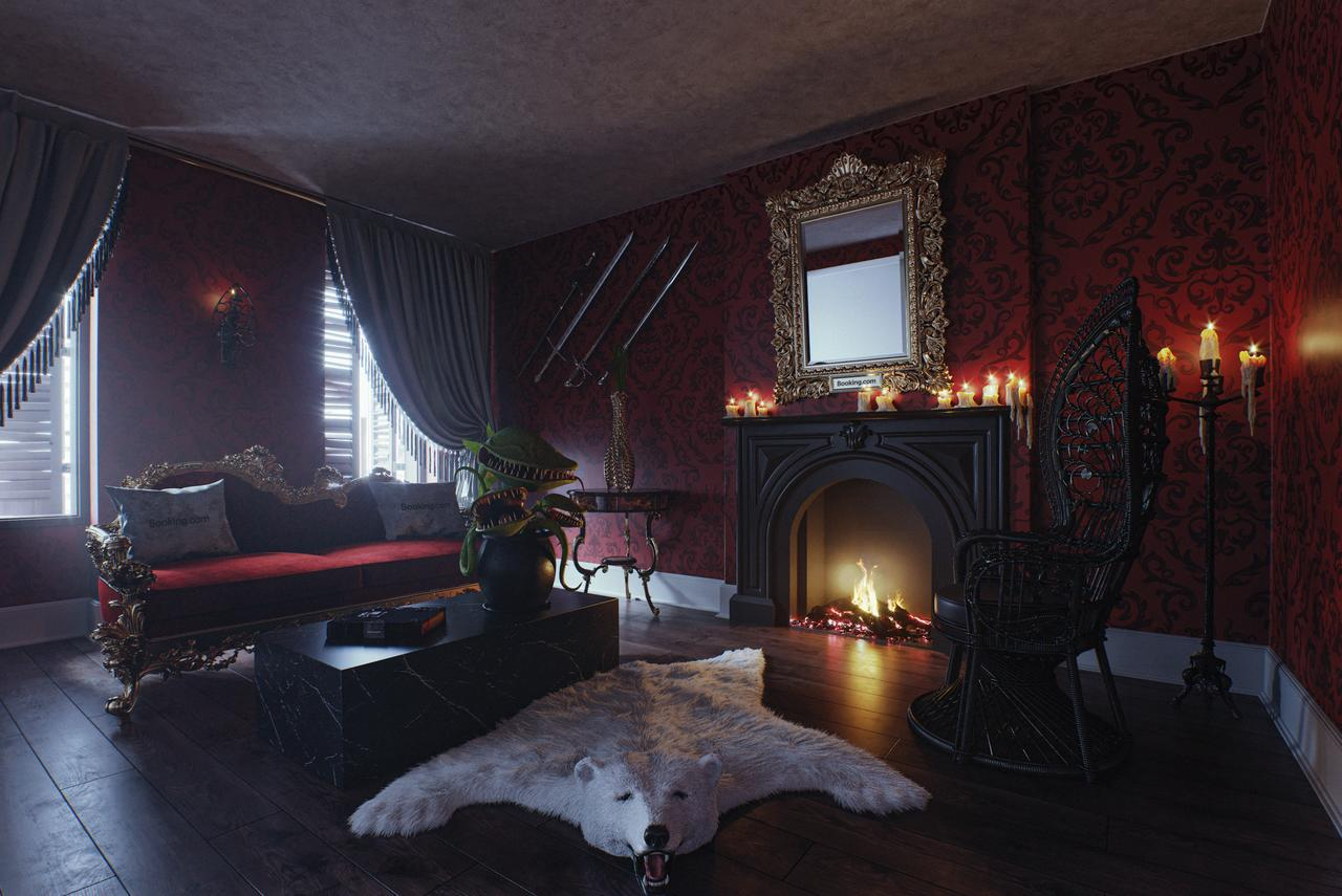 the addams family living room