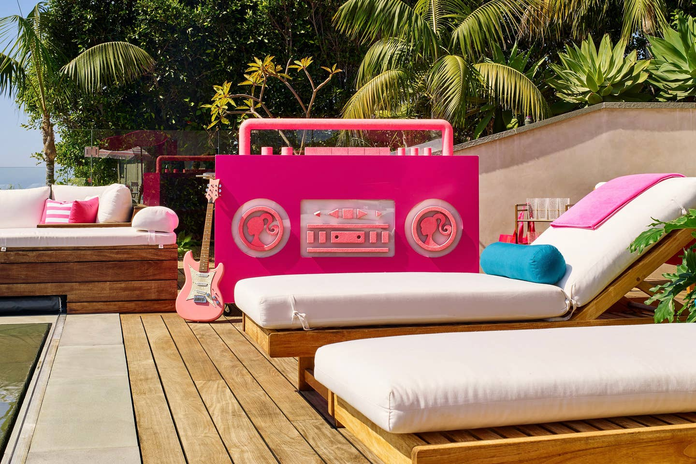 barbie dj booth pool