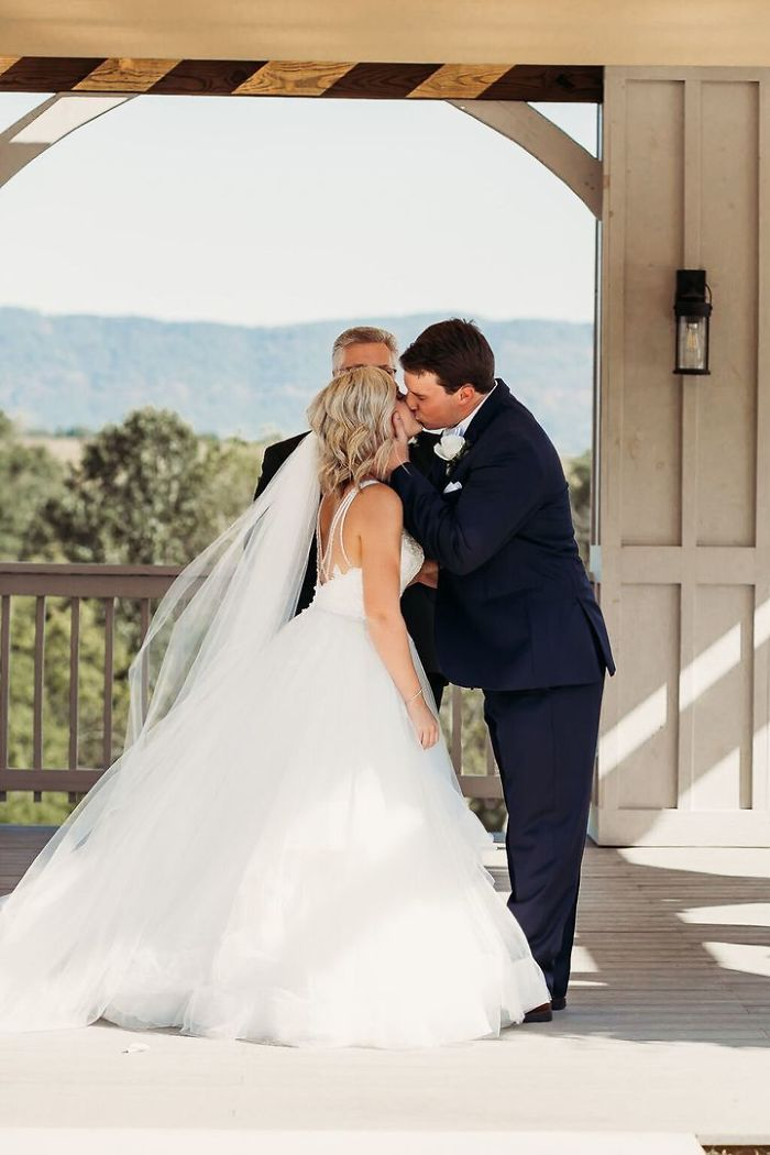 bride has 4 grandmas as flower girls at wedding
