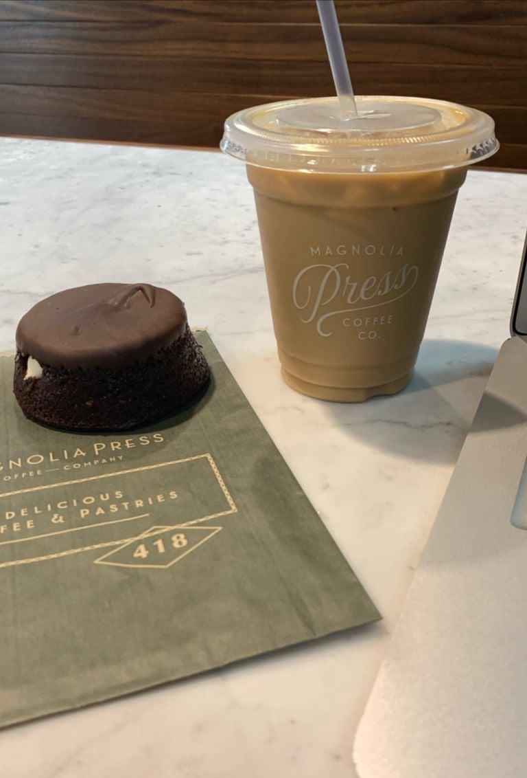 coffee and chocolate cake magnolia press