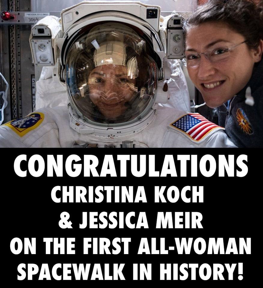 christina koch and jessica meir first all female spacewalk