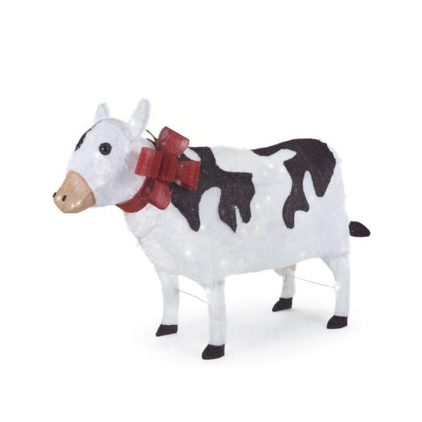 home depot selling a light-up yard cow
