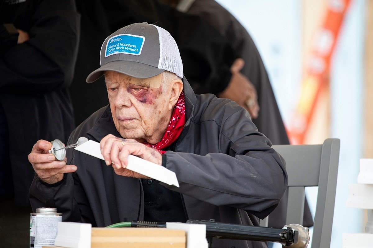 former president jimmy carter habitat for humanity