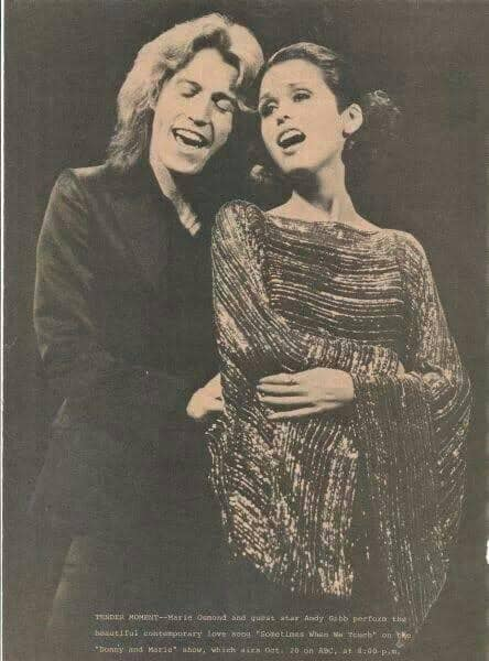 marie osmond performing with andy gibb
