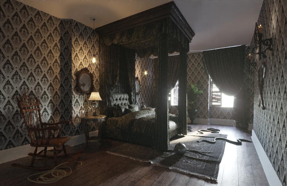 master bedroom addams family