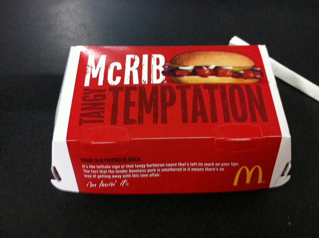 mcdonalds mcrib box