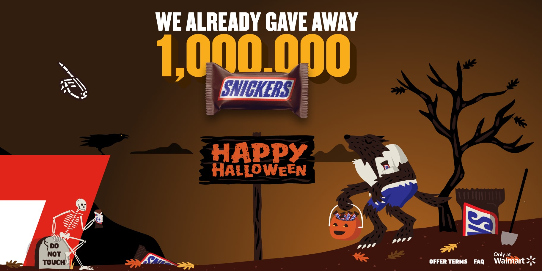 free snickers halloween promotion