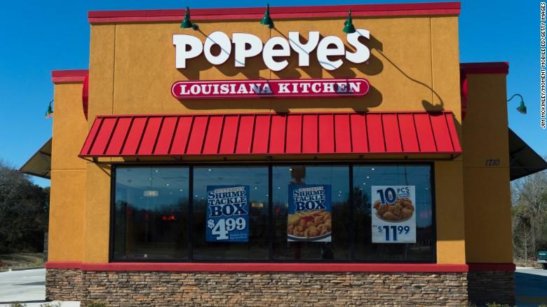 popeyes louisiana kitchen fast food restaurant