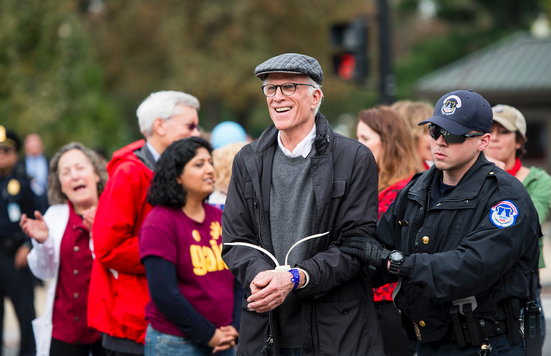 ted danson arrested at climate change protest