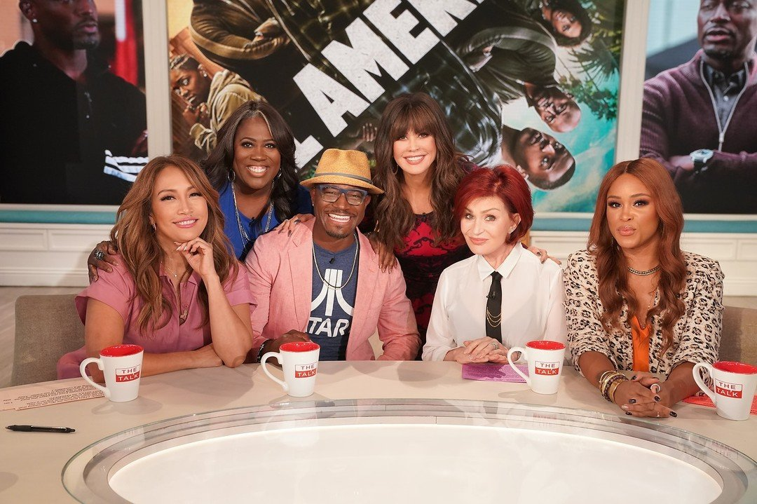 marie osmond and the cast of the talk