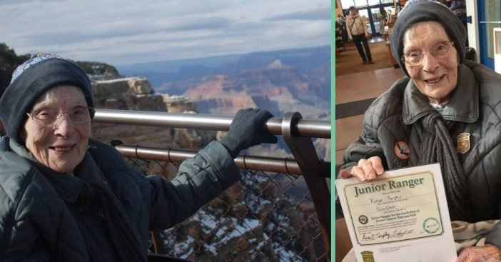 103 year old Rose Torphy became the oldest Junior Ranger at the Grand Canyon