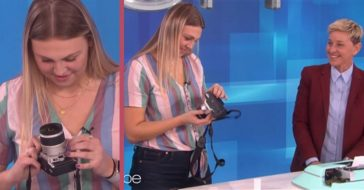 22-Year-Old Hilariously Attempts To Load A 35mm Film Camera On 'Ellen'