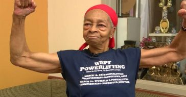 82 year old bodybuilder fights off intruder in her home
