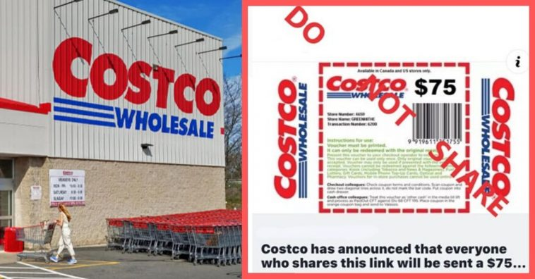 Costco Warns People To Stop Sharing 'Scam' $75 Coupon On Social Media