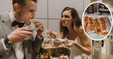 Couple has an Olive Garden themed wedding