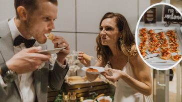 Couple has an Olive Garden themed wedding