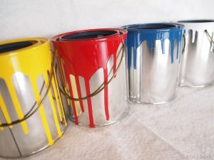 Drips from paint cans can ruin floors