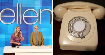 Ellen challenges a teen to use a rotary phone