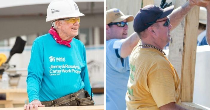Garth Brooks got called out by former President Jimmy Carter during Habitat for Humanity build