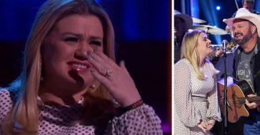 Garth Brooks serenaded Kelly Clarkson and made her tear up