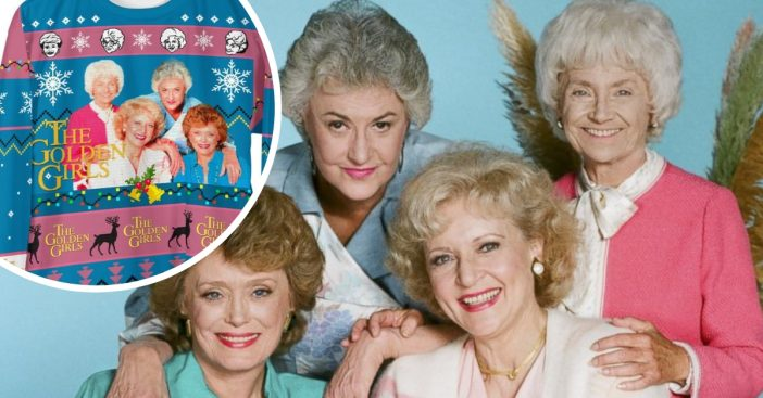 Get a Golden Girls themed ugly Christmas sweater this year