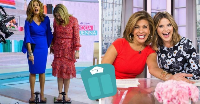 Hoda Kotb and Jenna Bush Hager weigh themselves on live tv