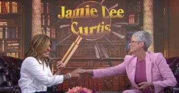 Jamie Lee Curtis Has Some Kind Words For Hoda Kotb That Bring Her To Tears